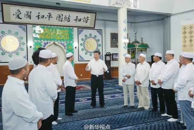 习近平参观银川新城清真寺